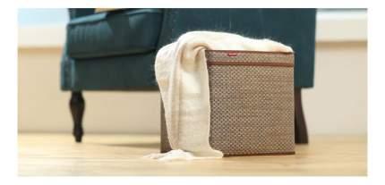 Корзина плетеная Casy Home Для хранения с ручками 30х30х30 см бежевый