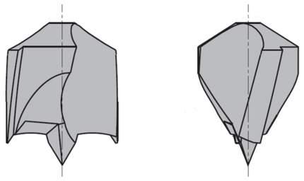Сверло HW для присадочного станка 6x30x57,5 Z=2+2 S=10x20 LH CMT 308.060.12