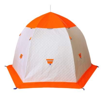Палатка Пингвин Термолайт трехместная белая/оранжевая
