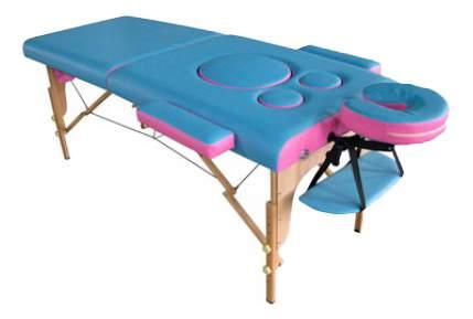 Массажный стол US Medica Panda голубой/розовый