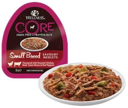 Консервы для собак Wellness CORE, курица и говядина с зеленой фасолью и красным перцем,85г