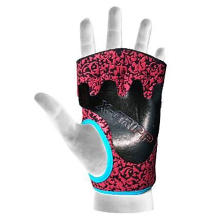Перчатки для фитнеса Chiba Lady Motivation Glove, розовые/черные/голубые, S
