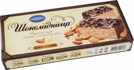 Торт вафельный Шоколадница с миндалем 270 г