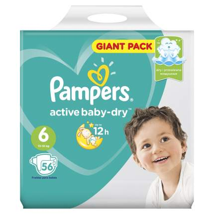Подгузники Pampers Active Baby-Dry Extra Large (13-18 кг) 56 шт.