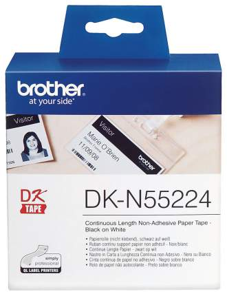 Лента для печати наклеек Brother DK-N55224 Черный