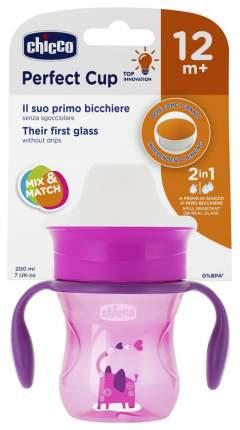Чашка-поильник Chicco Perfect Cup носик 360, 266 мл, Розовый со слоником