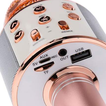Микрофон-караоке Wster WS-858 Rose Gold