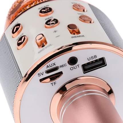 Микрофон-караоке Wster WS-858 розовый
