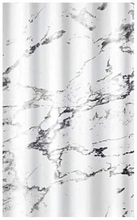 Шторка для ванной Kleine Wolke Marble anthracite 180x200 см 5283901305 Белая