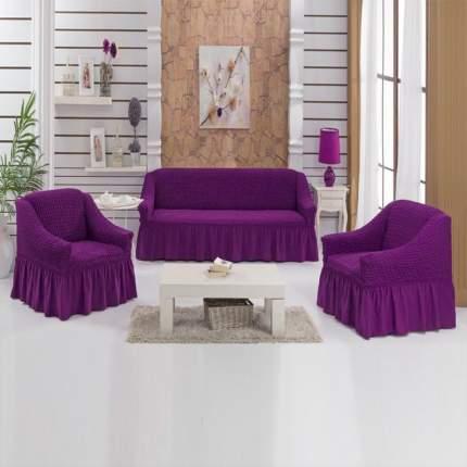 Чехол на кресло Bulsan фиолетовый