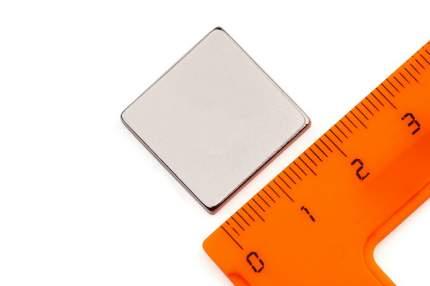 Неодимовый магнит Forceberg прямоугольник 20х20х3 мм, 2шт