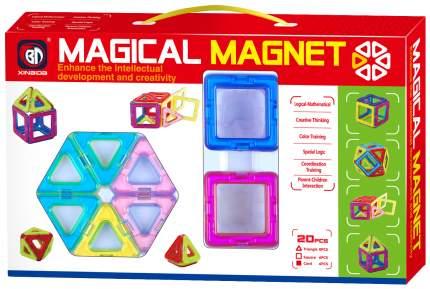 Конструктор магнитный «Магический магнит», 20 деталей Xinbida
