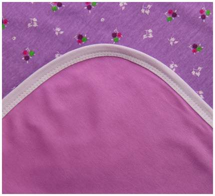 Плед детский трикотажный двухсторонний, размер 90х90 см, цвет сиреневый 23106 Эдельвейс