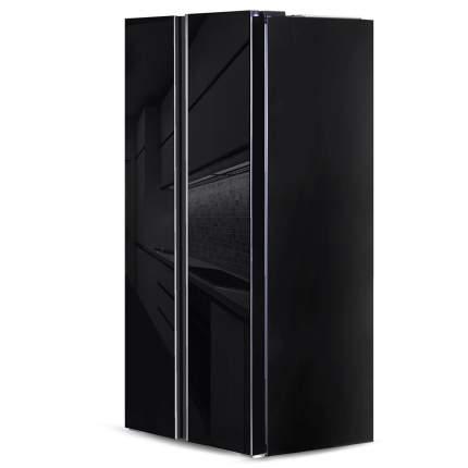 Холодильник Side-by-Side Ginzzu NFK-462 Black glass