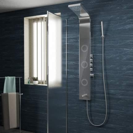 Душевая панель Tiko Helmi с изливом, 160х200 см, нерж. сталь, зерк. полировка