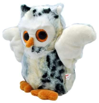 Мягкая игрушка АБВГДейка Сова глазастая светлая, 20 см