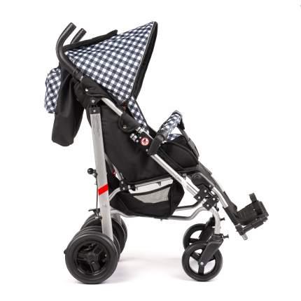 Кресло-коляска Meyra Umbrella new для детей ДЦП черно-белая клетка цельнолитые