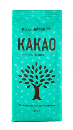 Какао порошок Royal Forest натуральный 200 г