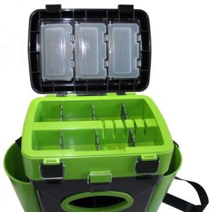 Рыболовный ящик Тонар Helios FishBox 10 л черно-зеленый