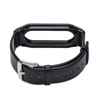 Ремешок кожаный для Mi Band 2 Leather Strap Black