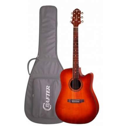 Электроакустическая гитара шестиструнная CRAFTER HILITE-DE SP /VTG  Чехол