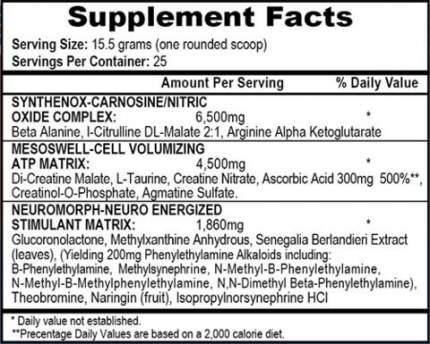 Предтренировочный комплекс APS Nutrition Mesomorph 388 г арбуз
