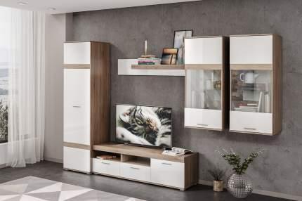 Платяной шкаф Hoff Денвер 80330629 53,3х45х120, дуб сонома трюфель/белый глянец