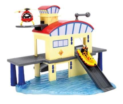 Игровой набор Dickie Пожарный Сэм - Морской гараж и лодка