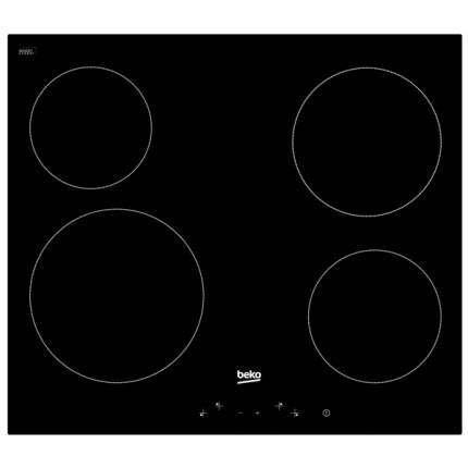 Встраиваемая варочная панель электрическая Beko HIC 64401 Black
