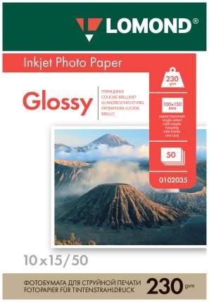 Фотобумага для принтера Lomond A6 230г/кв.м односторонняя глянцевая 50л