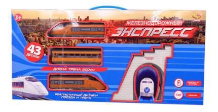 Железная дорога ABtoys Экспресс электромеханическая 200 см, 43 предмета