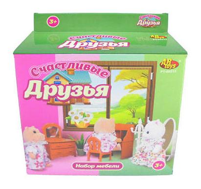 Набор мебели ABtoys Счастливые друзья для гостиной pt-00313