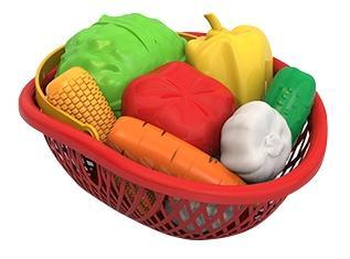 Набор овощи (10 предметов в лукошке)