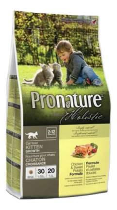 Сухой корм для котят Pronature Holistic Kitten, курица, 0,34кг