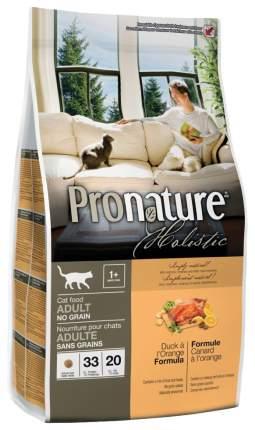 Сухой корм для кошек Pronature Holistic Grain Free, беззерновой, утка и апельсин, 2,72кг