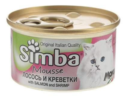 Консервы для кошек Simba, креветки, лосось, 24шт по 85г
