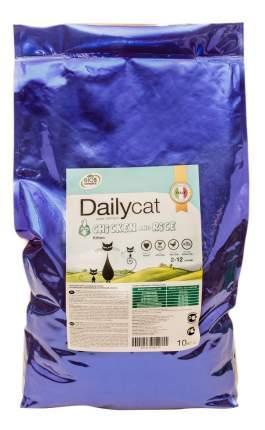 Сухой корм для котят Dailycat Kitten, курица с рисом, 10кг