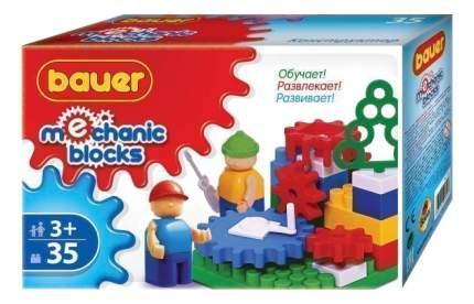 Конструктор пластиковый Bauer Mechanic с шестеренками 35 деталей