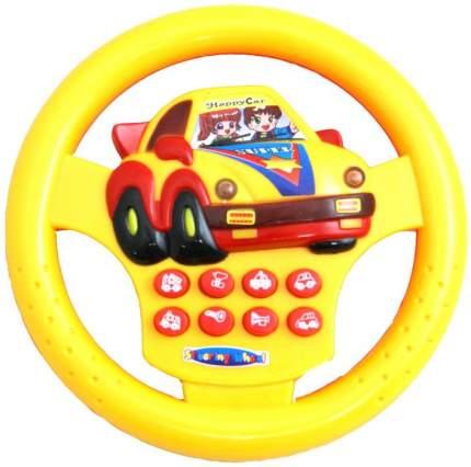 """Интерактивная развивающая игрушка Tongde """"Руль детский желтый"""""""