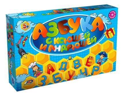 Семейная настольная игра ИнтерХит Азбука с Ксюшей и Андрюшей 37402