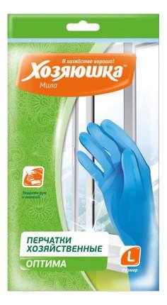 Перчатки для уборки Хозяюшка Мила Оптима размер L 3 пары