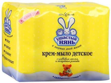 Крем-мыло УШАСТЫЙ НЯНЬ С оливковым маслом и экстрактом ромашки, 4х100 г (10198)