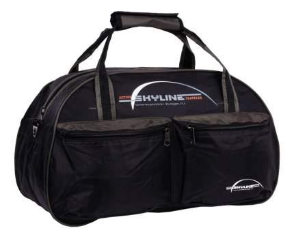 Дорожная сумка Polar П05 черная/хаки 54 x 29 x 39