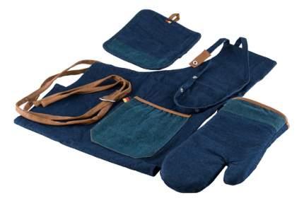 Набор кухонного текстиля GIPFEL Фартук, рукавица, прихватка синий