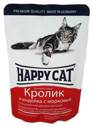 Влажный корм для кошек Happy Cat, кролик, индейка, 100г