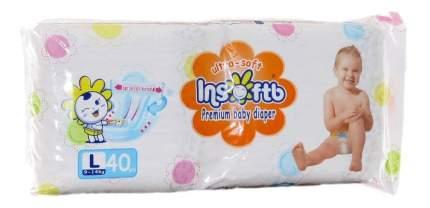 Подгузники Insoftb Premium Ultra-Soft L (9-14 кг), 40 шт.