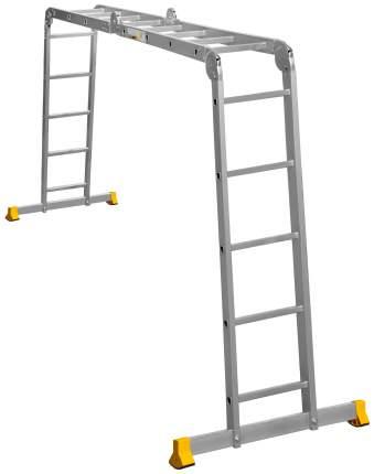 Лестница - трансформер Алюмет 2 секции по 4 ступени и 2 секции по 5 ступеней, 0