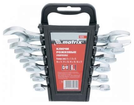Набор рожковых ключей MATRIX 15231