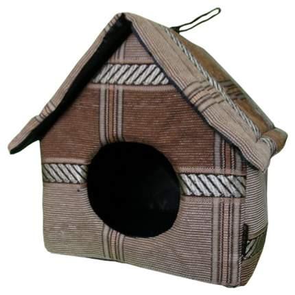 Домик для собак DOGMAN двускатная коричневый