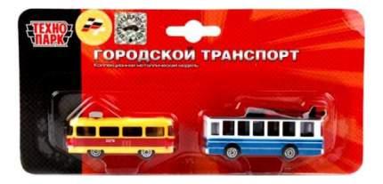Набор из 2 х моделей Трамвай и Троллейбус Технопарк